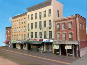 N-Scale-Buildings-Downtown-apartments-with-shops-Cardstock-kit-set-CN015