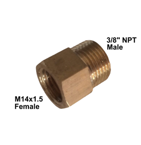 Metric M14 x 1.5 M14X1.5 Female to 3//8 Male BSPP BSP Pipe Fitting Coupling Gauge Adapter