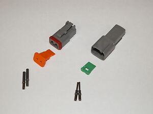2-PIN-GRAY-DEUTSCH-DT-CONNECTOR-SET-16-18-20-GA-SOLID-NICKEL-TERMINAL-CONTACTS