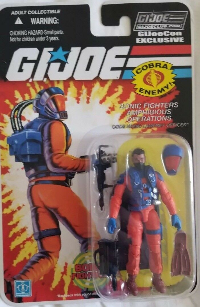 Joecon 2018 GIJOE CONVENTION Lamprey Officer Carded Figure