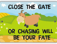 Close the Gate Indoor/Outdoor Aluminum No Rust No Fade Goat Barn Sign