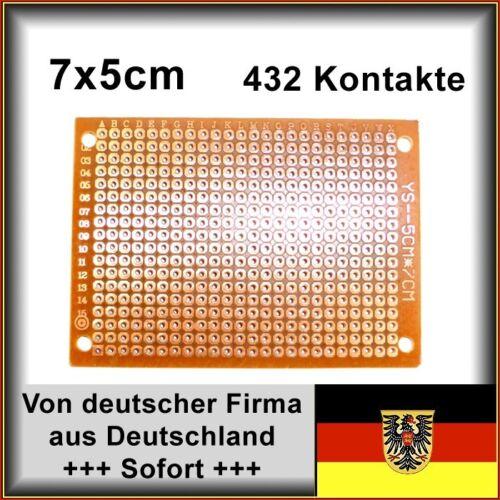 Lochrasterplatine Leiterplatte PCB Experimentierplatine Lochraster 70x50mm