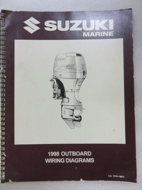 1998 Suzuki Marine Outboard Wiring Diagrams Service Manual