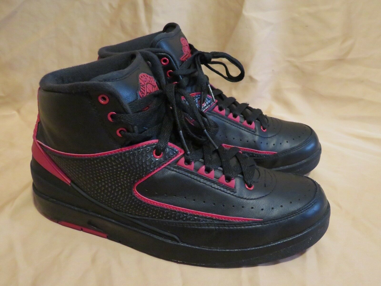 DE LOS HOMBRES Nike Jordan 2 criado Retro 834274 001 Air Negro/Rojo universitario criado 2 alternativo de tamaño 8 73b75b