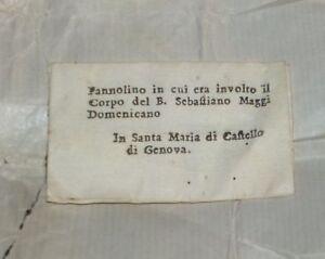 RELIQUIA DEL B. SEBASTIANO MAGGI DOMENICANO in S.Maria di Castello Genova