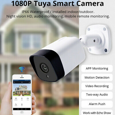 WIFI HD 1080P Outdoor Security IP Camera Night Vision built-in IR TUYA for  Alexa | eBay