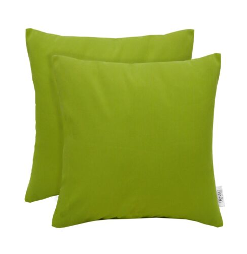 Set of 2 Indoor//Outdoor Square Throw Pillows Sunbrella Canvas Macaw