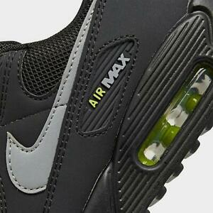 Eso matrimonio Emociónate  AUTHENTIC NIKE AIR MAX 90 Black Grey Volt Neon Green CV1634 001 men size |  eBay