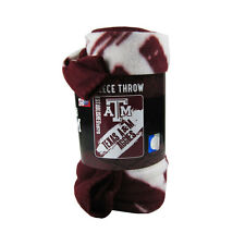 """New NCAA Texas A&M Aggies Tar Heels Large Soft Fleece Throw Blanket 50"""" X 60"""""""