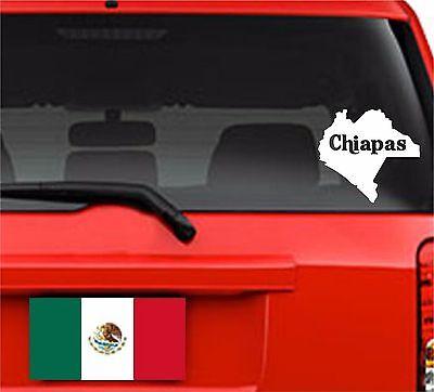 Car Decals. Wall Decal. Laptop Decal... Mapa Chiapas, México.  Map