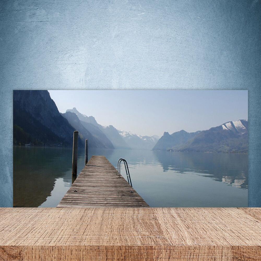 Cocina salpicaduras 100x50 vidrio templado de la arquitectura de Puente Lago Montañas