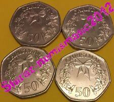 Uncirculated Gibraltar 2014 Arco y Santa Navidad Moneda 50P