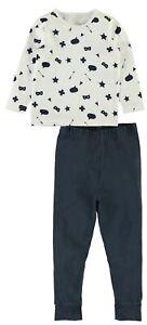 NAME-IT-2tlg-Pyjama-Schlafanzug-dunkelblau-weiss-Pfeile-Groesse-86-bis-152