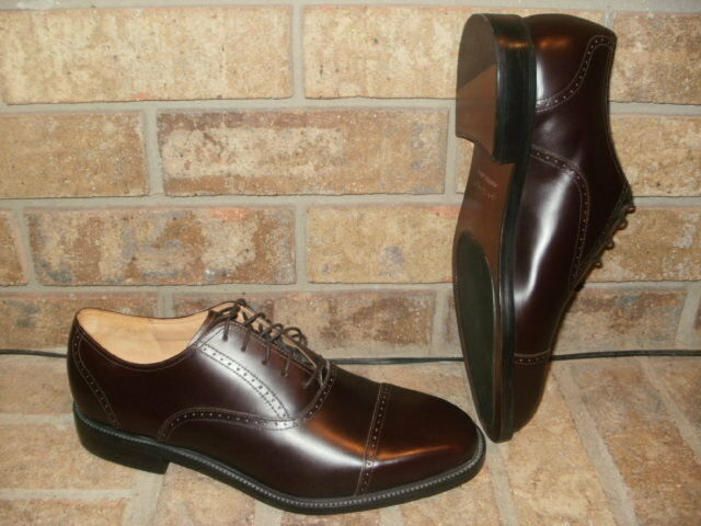 New Rockport Cordovan Leather Cap Toe Oxford 10 M  Kenetic Air Circ