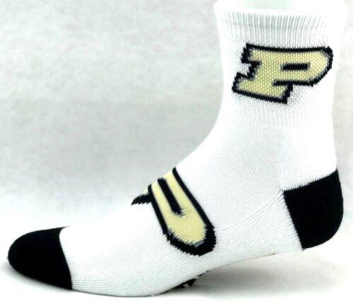 Purdue Boilermakers NCAA Quarter Socks White