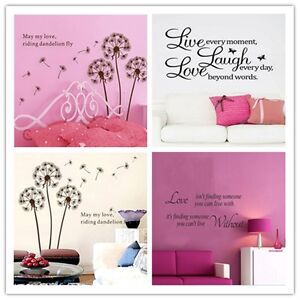 Wall-Stickers-Removable-Art-Vinyl-Quote-Decal-Bedroom-Mural-Home-DIY-Decor-CO