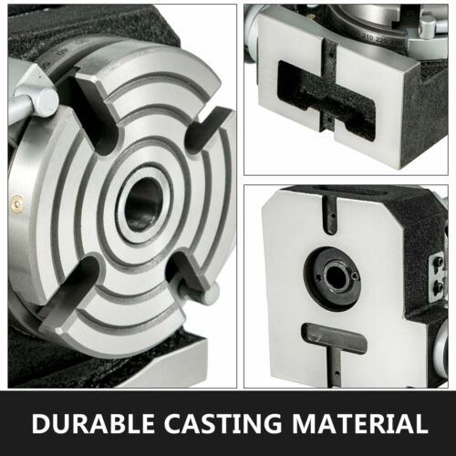 """Rotary Table 4/"""" 4-Slot Horizontal Vertical Dividing Plates for Milling Machine"""