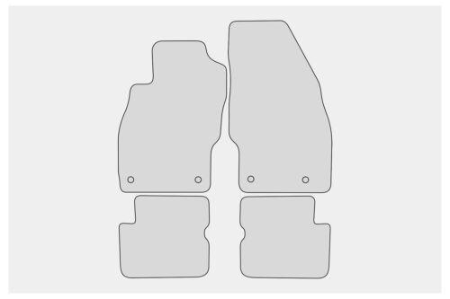 2006-10//2014 Ganzjahres Fußmatten für Opel Corsa D Bj