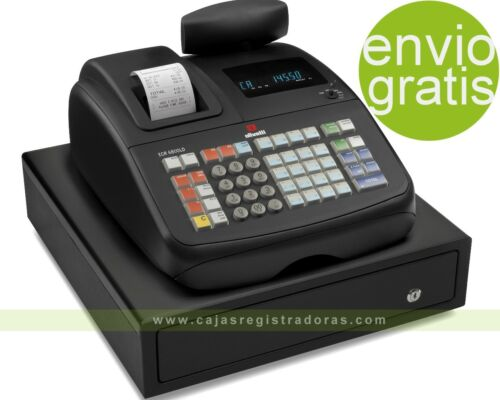 Caja Registradora Olivetti ECR 6800 LD ECO + 10 Rollos + PROGRAMACIÓN. Envio inc