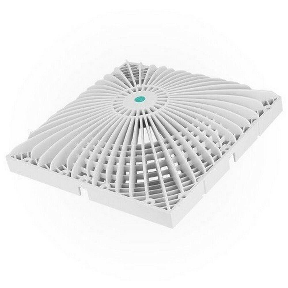AquaEstrella R12MF101 12  Cuadrado VGB Retrofit Moflow Cubierta De Succión-Series blancoo