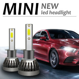 2X-6000K-H1-LED-Scheinwerfer-Canbus-Birnen-Headlight-Leuchte-Lampen-COB-72W-Weiss