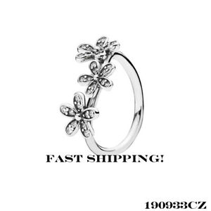 d50a5b176 Image is loading Authentic-Pandora-Triple-Dazzling-Daisy-190933CZ-ring-size-