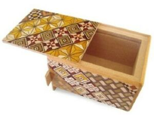 Japanese-Samurai-Wooden-Secret-Trick-Yosegi-Puzzle-Box-HK-102-7-Step-Japan-Made