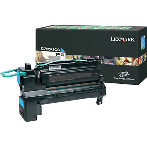 Lexmark-Genuine-C792A1CG-CYAN-Toner-For-C792-X792-6-000-Pages