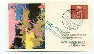 1963 Drg Geflogen Rakete Rocket Sahlenburg Hunger Capaingn Hamburg Space Nasa