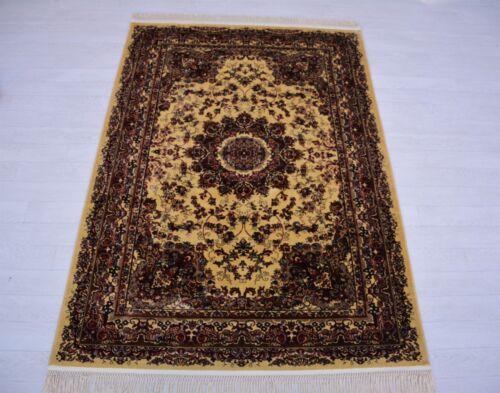 Persian Cream Silk Oriental Turkish Design Rug Afghan Runner Small Medium Large