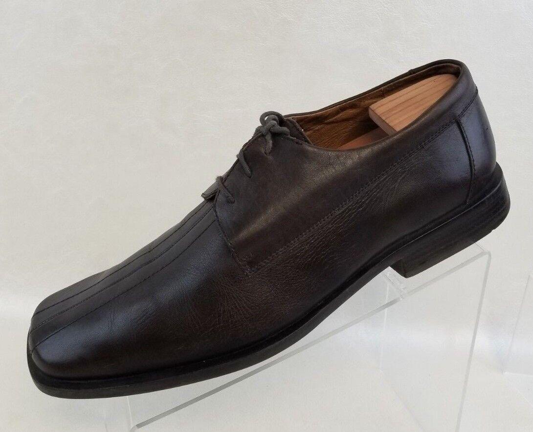 Aldo Derby Split Toe Brown Leather Lace Up Mens shoes Size US 12