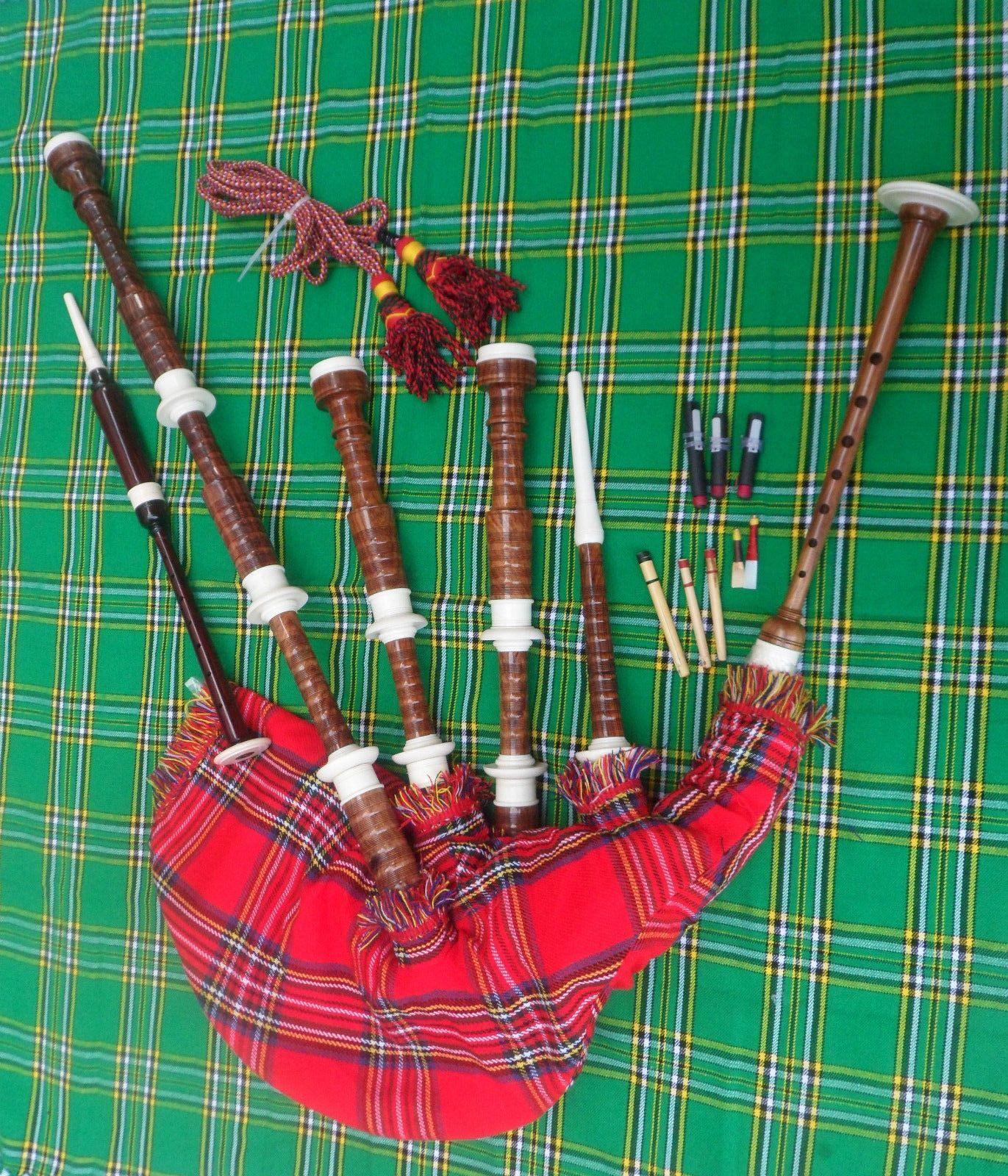Nuova Cornamusa Scozzese Delle Highland Set Completo   Gaita   Giocabile