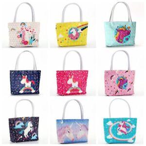 Women-Girl-Unicorn-Handbag-PU-Leather-Shoulder-Bag-Tote-Cosmetics-Storage-Bag