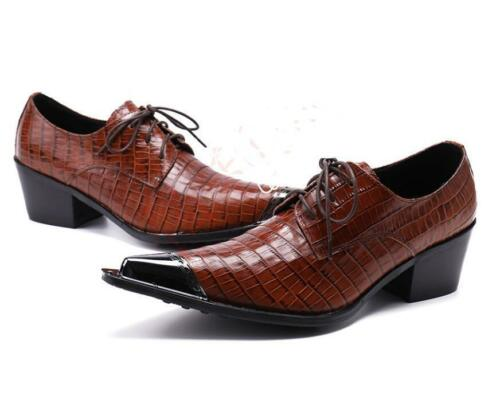 Details about  /Fashion Pointed Toe Men/'s Leather Mens Lace Up Formal British Dress Oxford Shoes