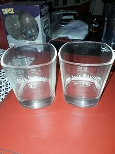 100% De Qualité Jack Daniels Tennessee Old Number 7 Set Of 2 White Logo Glasses