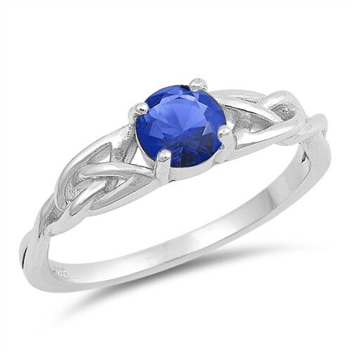 Jewelry Best USA Seller Ring Sterling Silver 925 Selectable Blue Sapphire CZ