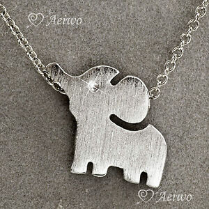 9K-9CT-WHITE-GOLD-GF-NEW-CLASSIC-SIMPLE-BABY-ELEPHANT-PENDANT-NECKLACE