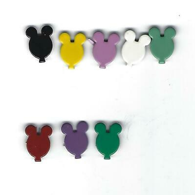 MICKEY MOUSE  BRADS 8 COLORS EYELET OUTLET  16 PCS  REDUCED