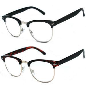 995538850d7b 80 s Vintage Horned Rim Half Frame Clear Lens Reading Glasses - RG16 ...