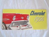 1956 Chevrolet Car Sales Catalog Color Must Have Item