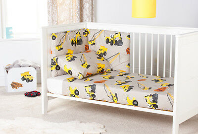 Childrens Nursery Bedding Set 3pc Cot Bumper /& Duvet Cover Boys Girls Baby Kids