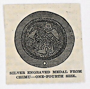 small-1883-magazine-engraving-SILVER-ENGRAVED-MEDAL-FROM-CHIMU-Peru