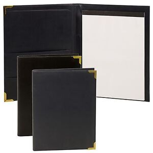 Leather-Look-Note-Pad-A4-Holder-Folder-Sleeve-Memo-Diary-Conference-Card-Refill