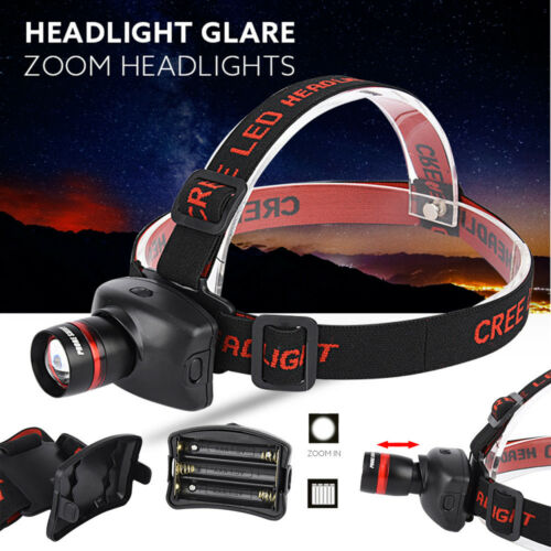 3000LM  XM-L Q5 LED Outdoor Headlamp Headlight Flashlight Head Light Lamp US