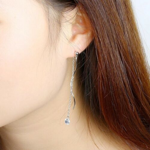 9 Carat GOLD PLATED TWIST DANGLE EARRINGS PARTY GIFT XMAS  T1:3