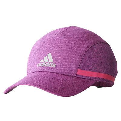 Women/'s adidas Run Climachill Cap Reflective Training Running Pink Baseball Hat