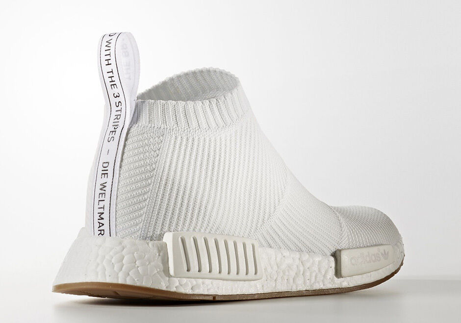 9037f8e107e2b Mens Size 13 adidas NMD Cs1 PK City Sock Primeknit White Gum BA7208 ...
