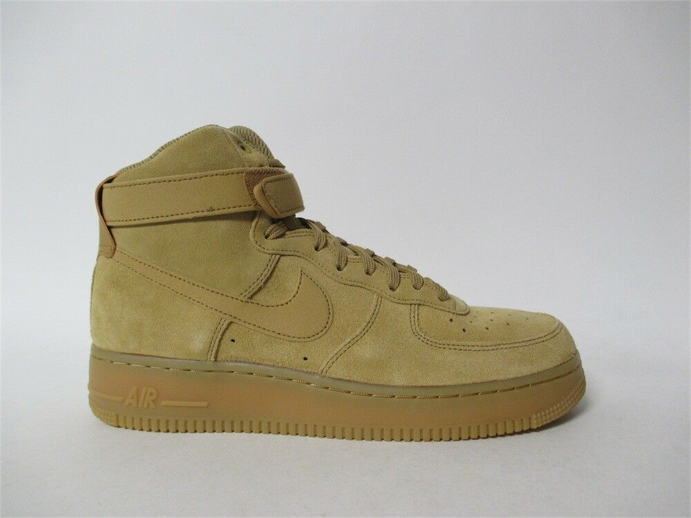 femmes Nike Air Force Flax 1 High Elemental Gold Flax Force Wheat Gum Sz 12 860544-700 0c0a06