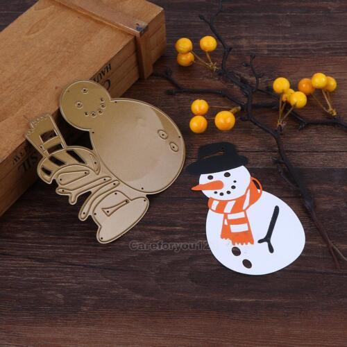 Christmas Snowman DIY Cutting Dies Stencil Scrapbooking Album Paper Card Craft