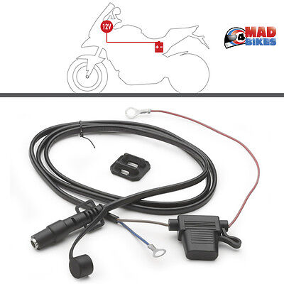 S110 Givi Kappa 12V Motorcycle Electrical Outlet Socket Lead, Use With S111 S112
